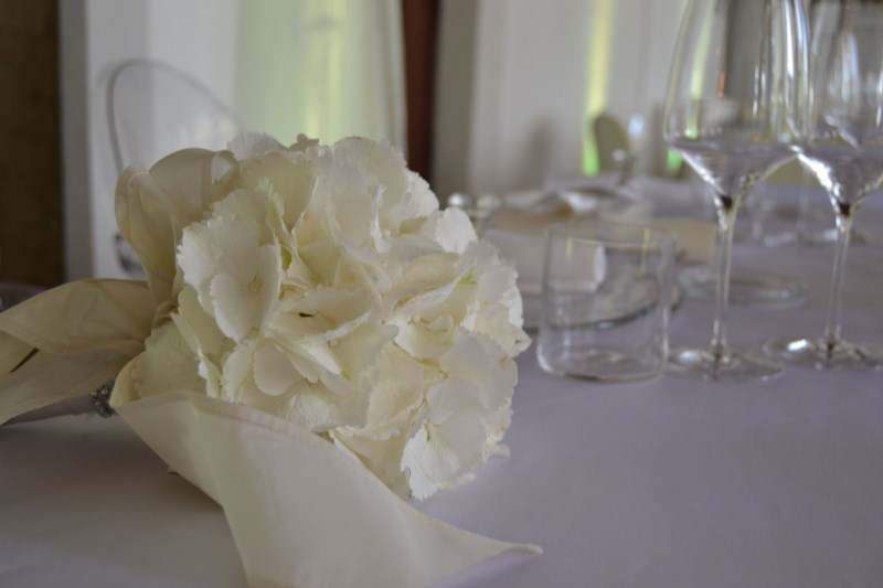 bouquet sposa - matrimonio total white in aranciera