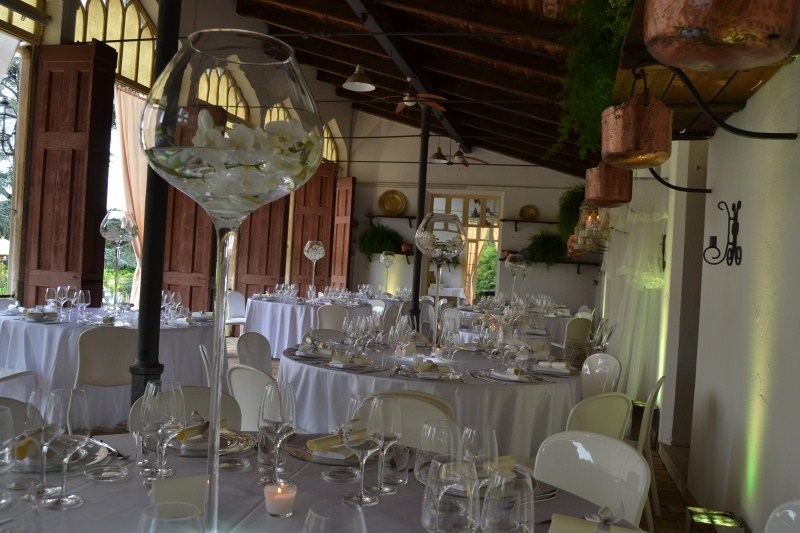 allestimento location - matrimonio total white in aranciera
