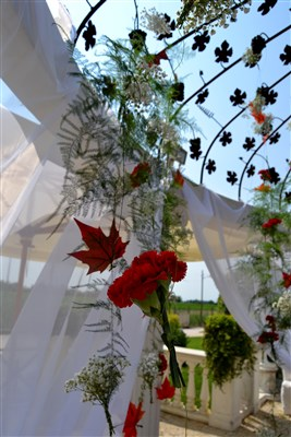 decorazioni floreali per matrimonio country chic