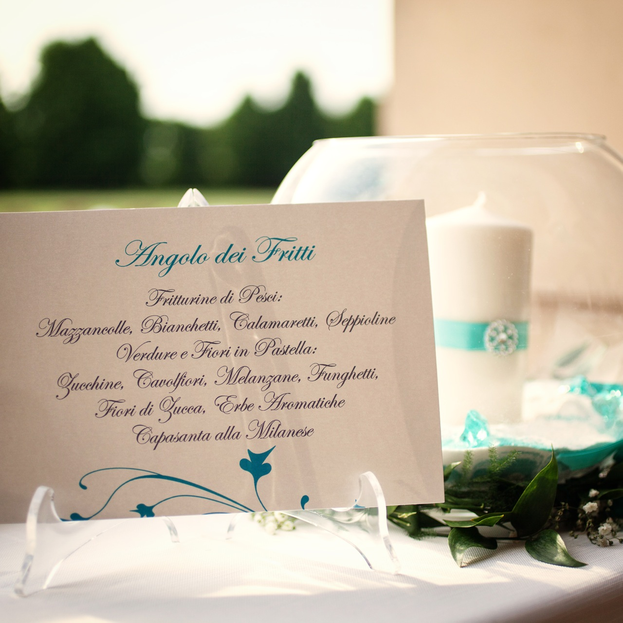 menu matrimonio tiffany